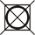 Symbol - Sušení - Nesmí se sušit v bubnové sušičce